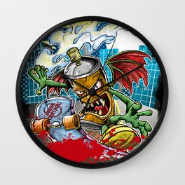 Spray Sk8t Wall Clock