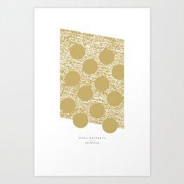gold dots - 5s/5 Art Print
