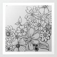 Abundance of Flowers Art Print