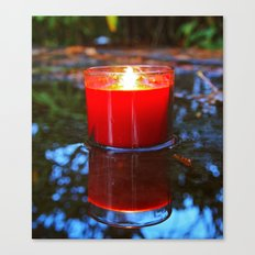 Candle reflected Canvas Print