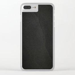 Black Rock Clear iPhone Case