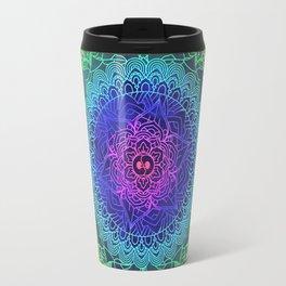 Trippy Mandala Design and Rainbow Travel Mug