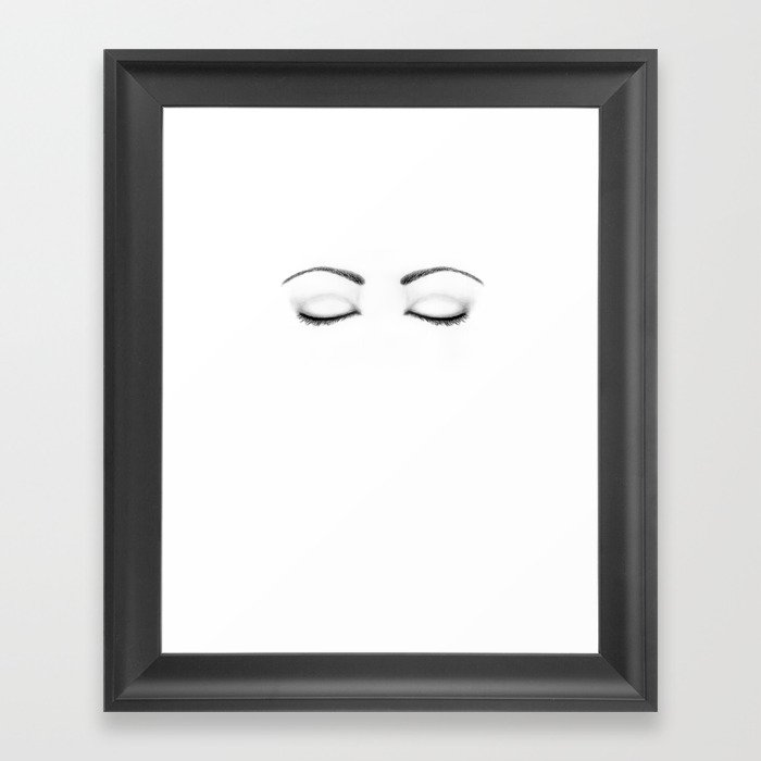 closed eyes original sketch drawing eyes art apparel and