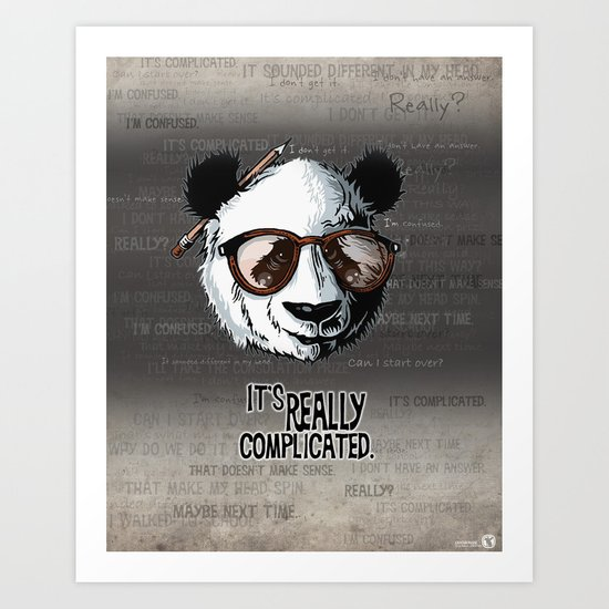 it's really complicated. Art Print