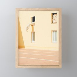 Seville XX [ Andalusia, Spain ] Art Men into yellow house⎪Colorful travel photography Poster Framed Mini Art Print
