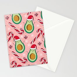 Christmas Avocado & Minty Candies Stationery Cards