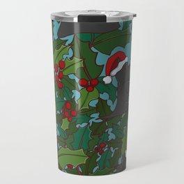 Christmas Dog Pattern Travel Mug