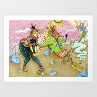 arsenal Art Prints featuring Arsenal Girl Umu by Detrocboi
