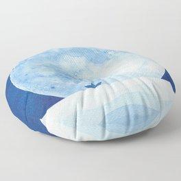 Full moon & paper boat Floor Pillow