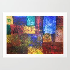 blocks of color Art Print