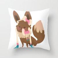sylveon Throw Pillows featuring Sylveon by Dani Tea