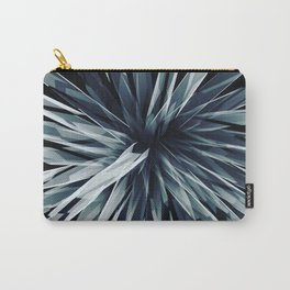 Perspective Facets-Retro Blue Carry-All Pouch