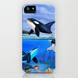 THE ORCA FAMILY iPhone Case