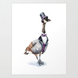 Victorian Gentleman Goose Art Print
