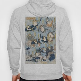 Famous Heroes of the Kabuki Stage Played by Frogs by Utagawa Kuniyoshi (1798-1861) a woodcut  of per Hoody