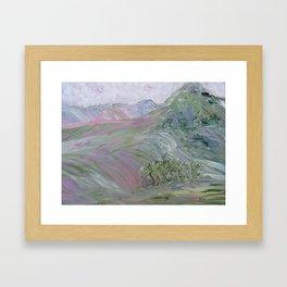 Pink Landscape Under Rosy Clouds Framed Art Print