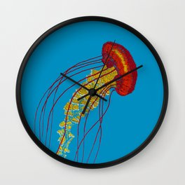 Stitches: Jellyfish Wall Clock