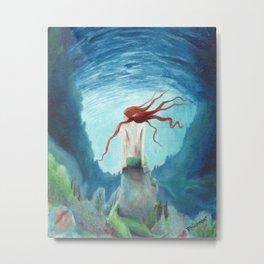 Dreamy Mermaid Metal Print