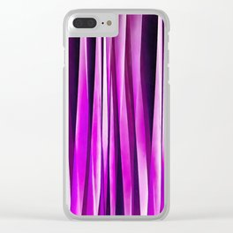 Plum Purple and and Burgundy Stripy Lines Pattern Clear iPhone Case