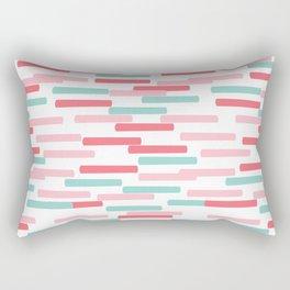 Karena - abstract minimal trendy pattern palette lines dash grid urban affordable dorm college decor Rectangular Pillow