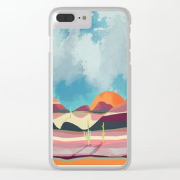 Pink Desert Glow Clear iPhone Case