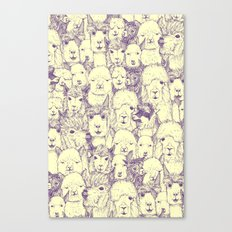 just alpacas purple cream Canvas Print