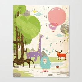 Crazy Animals Canvas Print