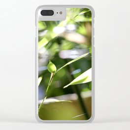 The lightness of bamboo Clear iPhone Case