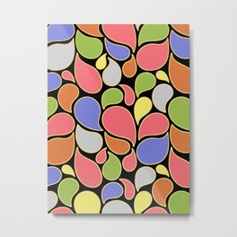 RAIN OF COLORS Metal Print
