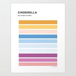 The colors of - Cinderella Art Print