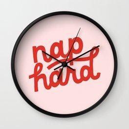 Nap Hard Wall Clock