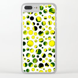 Dotty white Clear iPhone Case