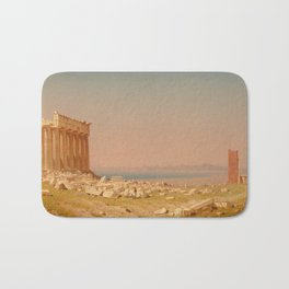 Ruins of the Parthenon Oil Painting by Sanford Robinson Gifford Bath Mat