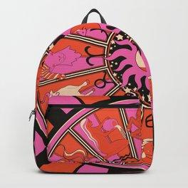 Harley and J Zodiac Hot Pink Backpack