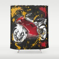 ducati Shower Curtains featuring Ducati 1098 2008 by Larsson Stevensem