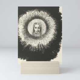 Odilon Redon - And in the disc of the sun the face of Christ shone Mini Art Print
