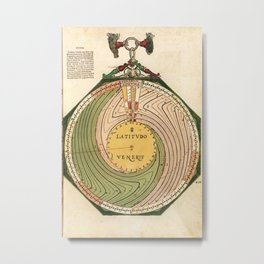 Peter Apian - Astronomicum Caesareum 1540 - Plate 11 The Latitude of Venus Metal Print