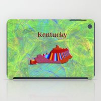kentucky iPad Cases featuring Kentucky Map by Roger Wedegis