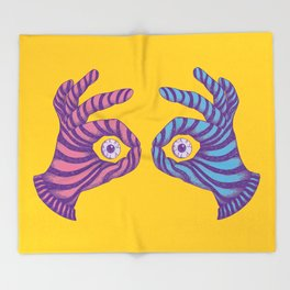 Thief Eyes Throw Blanket