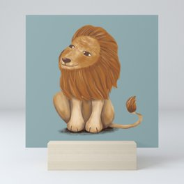 smile lion// illustration Mini Art Print