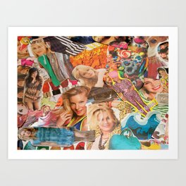 magazine collage Art Print