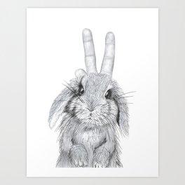 bunny ears! Art Print