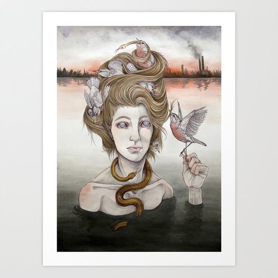 The Last Gorgon Art Print