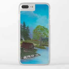 Cabin by stream Clear iPhone Case