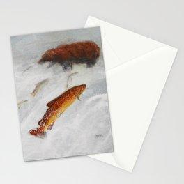 La remontée du saumon Stationery Cards