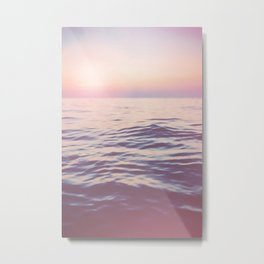 Peaceful Easy Feeling x Ocean Art Metal Print