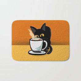 Coffee cat Bath Mat