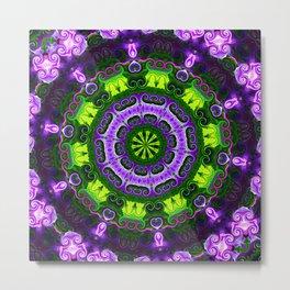 Purple Iris Mandala Metal Print