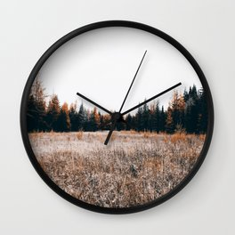 my home is in the woods Wall Clock