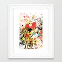 pixar Framed Art Prints featuring Disney Pixar Play Parade - Incredibles Unit by Joey Noble